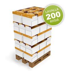 Kopiopaperi lava New Future A4 80g valkoinen ekologinen tulostuspaperi kopiopaperi lavalla 200 riisiä, hinta 548€