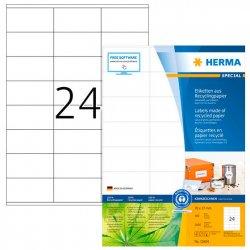 Kierrätystarra Herma 10824 A4 70x37 100ark/ltk, hinta 23,10€