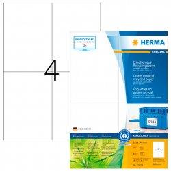 Kierrätystarra Herma 10829 A4 105x148|100ark/ltk, hinta 23,10€