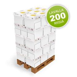 Kopiopaperi lava A4 80g 200 riisiä 40 laatikkoa kotimainen tarjous hintaan, hinta 530€