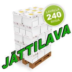 Kopiopaperi jättilava a4 80g 240 riisiä 48 laatikkoa kotimainen, nyt lavat edulliseen tarjous hintaan, hinta 621,60€