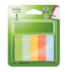 Merkkaaja Post-it 670 15x50mm ekologinen värilaj. 5 lehtiötä, hinta 4,79€