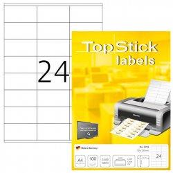 Tulostustarra Top Stick A4 70x36mm|100ark/ltk, hinta 11,90€
